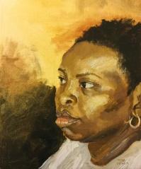 """""""Alla Prima Big Sister"""" - oil on canvas 8x10"""
