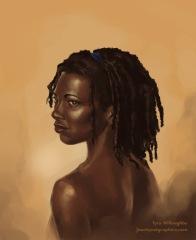 """Elegant Woman"" - digital painting"