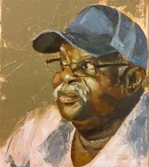 """""""Alla Prima Portrait of Daddy"""" - oil on canvas 8x10"""