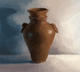 """"""" Pottery Still Life"""" - digital painting"""