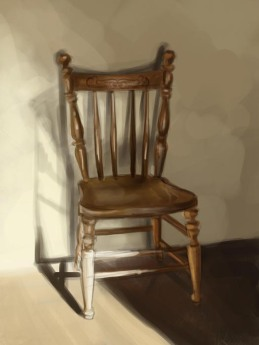 """Chair Still Life"" - digital painting"