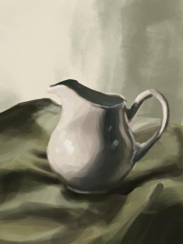 """""""Jug Still Life"""" - digital painting"""