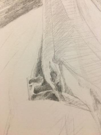 Close up progress shot